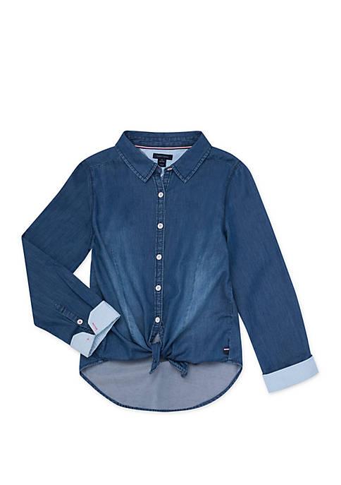Tommy Hilfiger Girls 7-16 Lightweight Denim Shirt