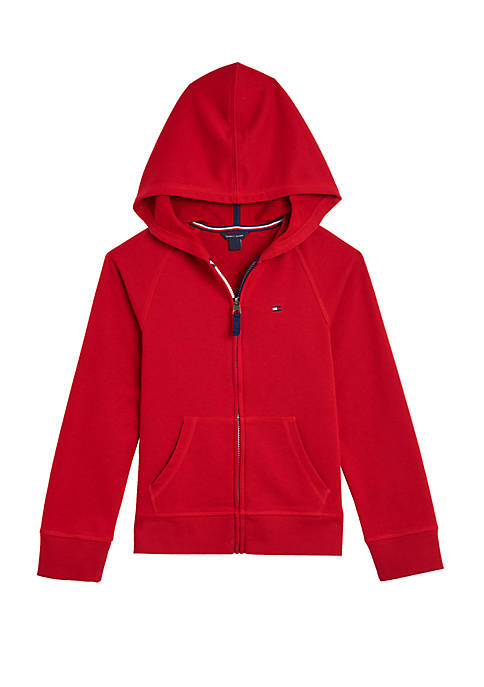 Girls 7-16 Heart Logo Fleece Zip Up Hoodie