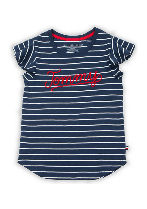 Girls 7-16 Tommy Striped T-Shirt