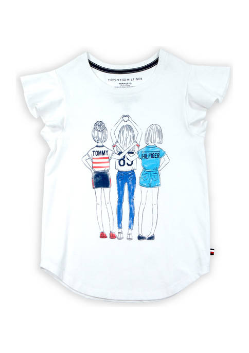 Tommy Hilfiger Girls 7-16 Girl Squad Graphic T-Shirt