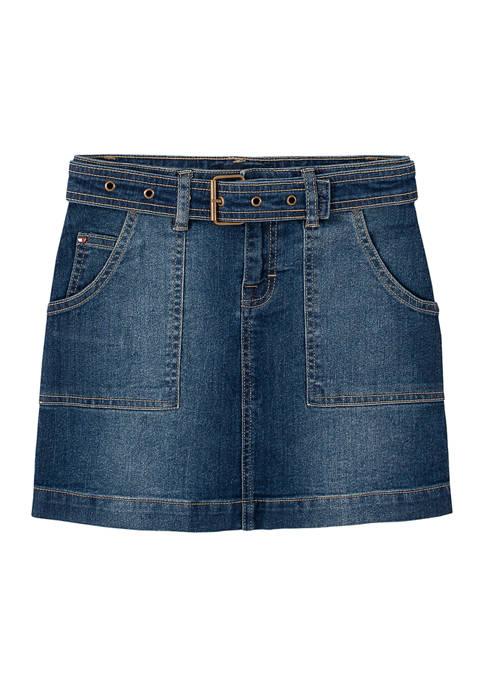 Girls 7-16 Utility Denim Skirt