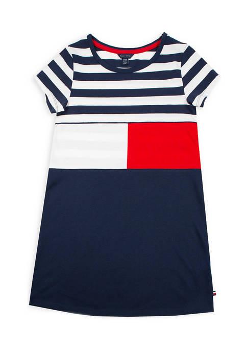 Girls 7-16 Striped Flag Dress