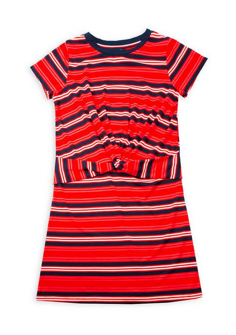 Girls 7-16 Twist Front Dress