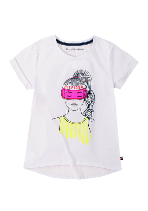 Tommy Hilfiger Girls 7-16 Game Girl Graphic T-Shirt