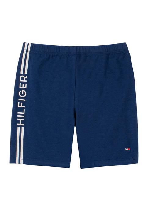 Tommy Hilfiger Girls 7-16 Side Stripe Bike Shorts