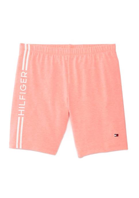 Girls 7-16 Side Stripe Biker Shorts