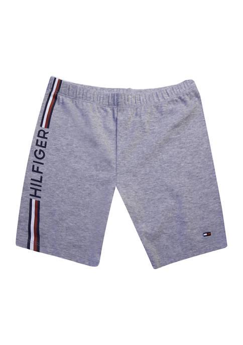 Girls 7-16 Side Stripe Bike Shorts