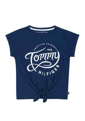 XL New Tommy Hilfiger Big Girls Graphic-Print Cotton T-Shirt Size Small Large