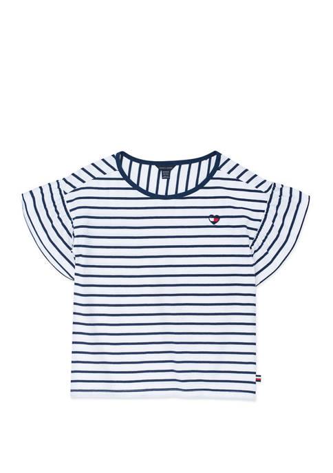 Girls 7-16 Striped T-Shirt