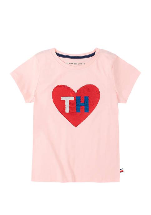 Girls 7-16 Heart Sequin T-Shirt