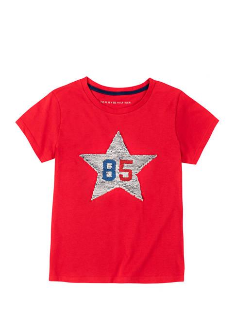 Girls 7-16 Star Sequin T-Shirt