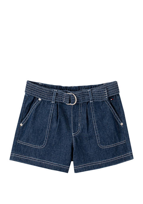 Girls 7-16 Pull On Workwear Shorts