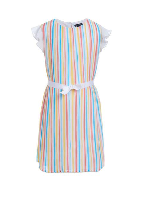 Girls 7-16 Pleated Dress