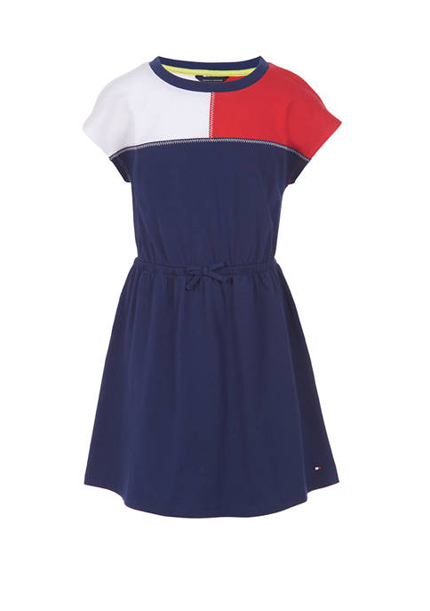 Girls 7-16 Flag Yoke T-Shirt Dress
