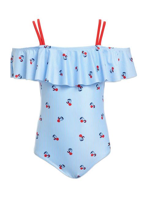 Girls 7-16 One Piece Swimsuit