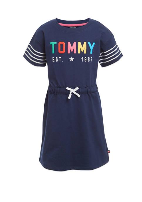 Girls 7-16 Navy Tommy Dress