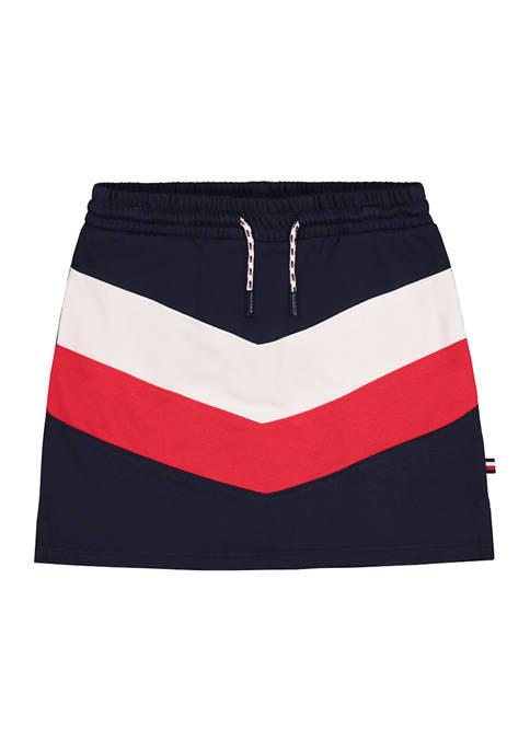 Girls 7-16 Sporty Chevron Colorblock Skirt