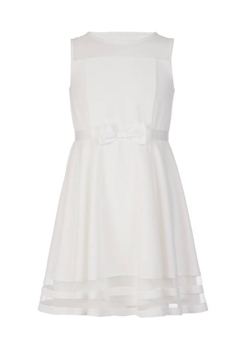 Calvin Klein Girls 7-16 Illusion Mesh Dress