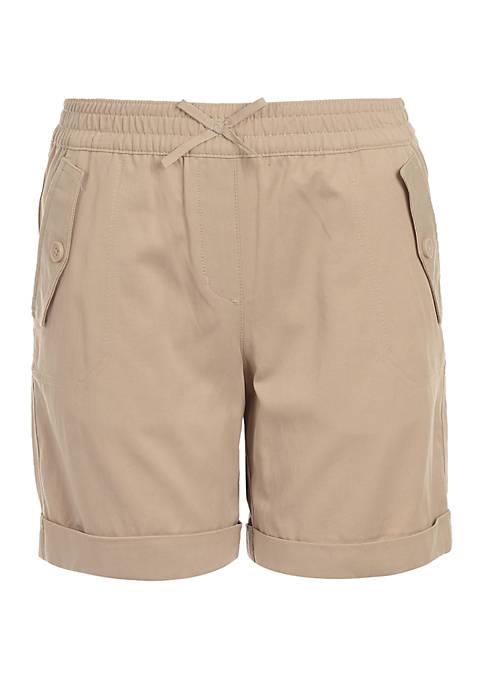 Nautica Girls 7-16 Cuffed Twill Shorts