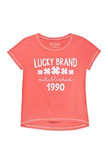 Lucky Brand Girls 7-16 Original Lucky Shamrock T-Shirt