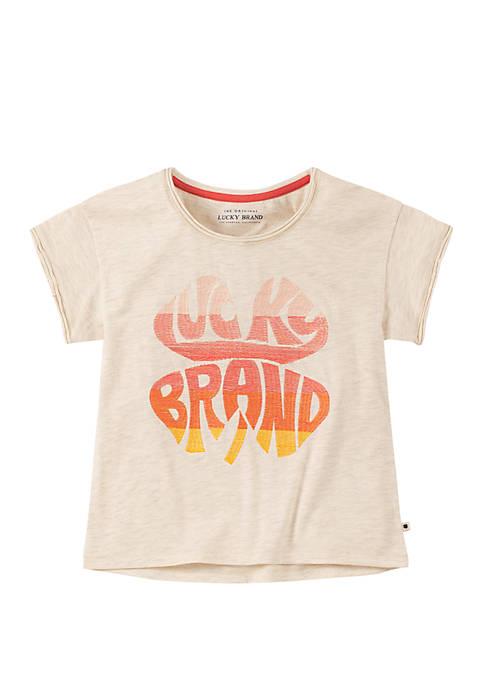 Lucky Brand Girls 7-16 Shamrock Graphic T-Shirt