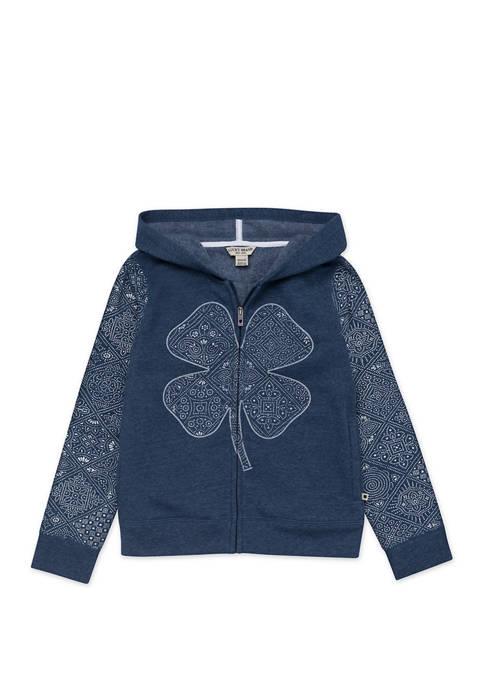 Lucky Brand Girls 7-16 Fleece Zip Up Hoodie