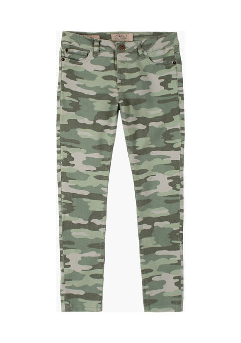 Girls 7-16 Camouflage  Printed Jeggings