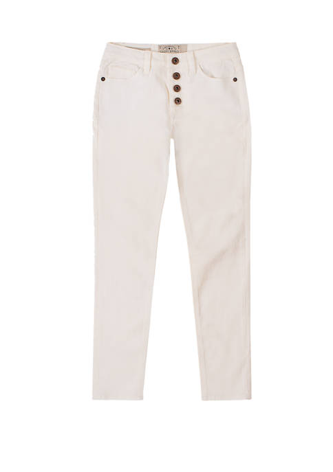 Girls 7-16 Button Fly Skinny Jeans