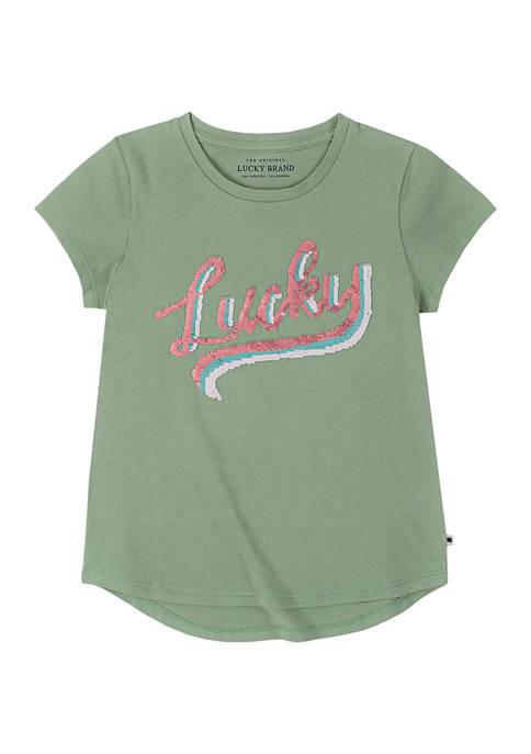 Lucky Brand Girls 7-16 Raquel Sequin T-Shirt