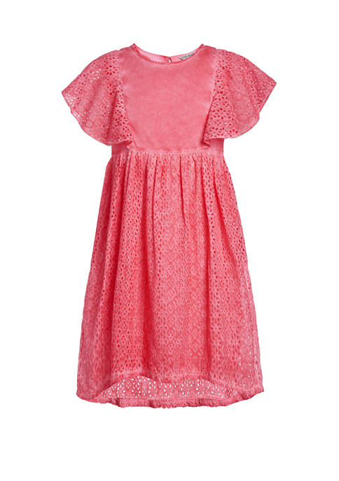 Girls 7-16 Eyelet Dress
