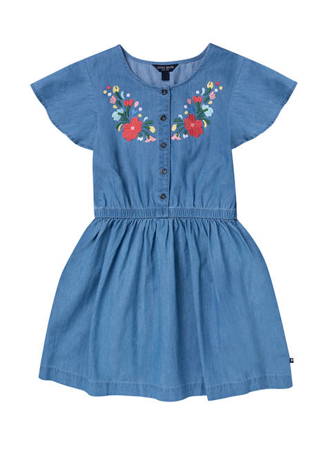 Girls 7-16 Embroidered Dress