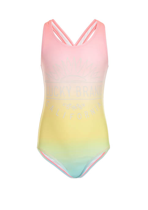 Girls 7-16 Ombre One Piece Swimsuit