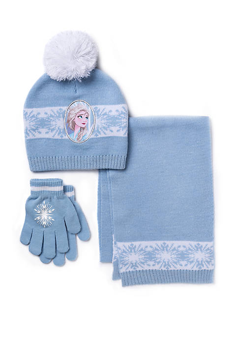 Toddler Girls Disney® Frozen 3 Piece Gloves Scarf Hat Set
