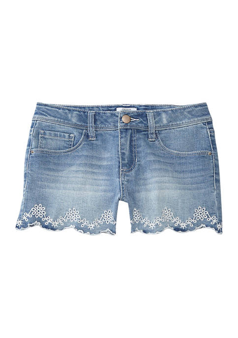 Crown & Ivy™ Girls 7-16 Scallop Edge Embroidered