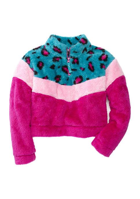 Girls 7-16 Varsity Cozy Pullover Jacket