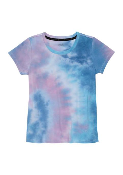 Girls 7-16 Short Sleeve Scoop Neck Tie Dye T-Shirt