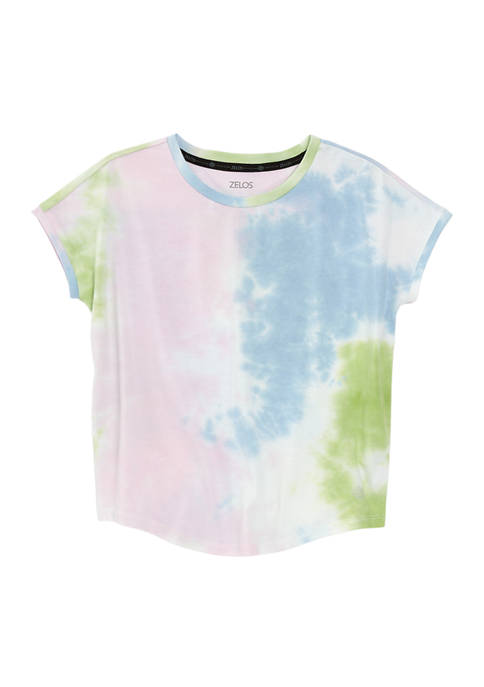 Girls 7-16 Allover Dye Dolman Sleeve T-Shirt