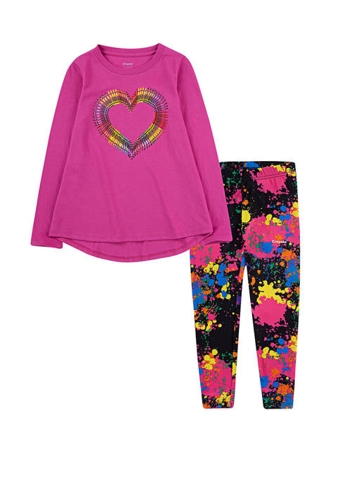 Crayola Toddler Girls Printed Leggings and Top Set