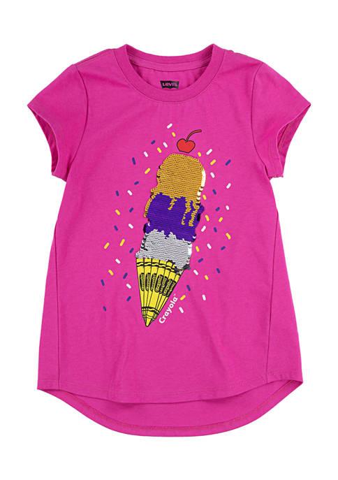 Crayola® Girls 4-6x Short Sleeve Ice Cream Cone