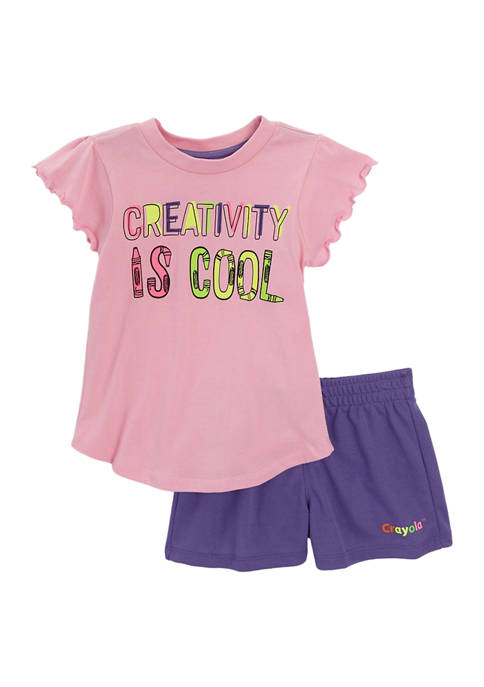 Crayola® Girls 4-6x Crayola T-Shirt and Shorts Set