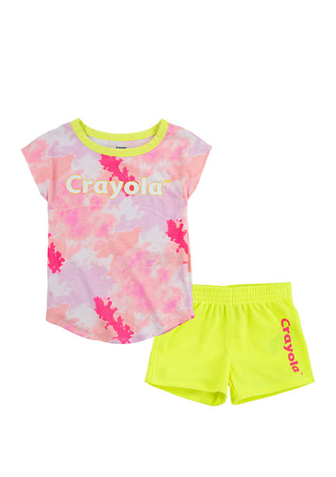 Girls 4-6x T-Shirt and Shorts 2 Piece Set