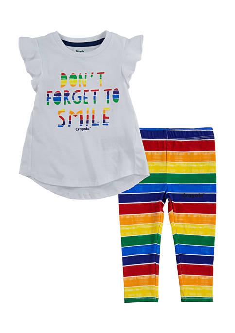 Crayola® Girls 4-6x T-Shirt and Leggings Set