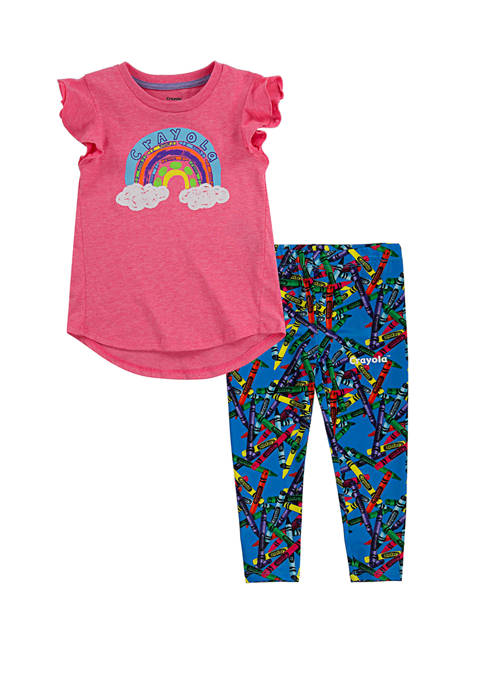 Crayola® Girls 4-6x T-Shirt and Leggings Set