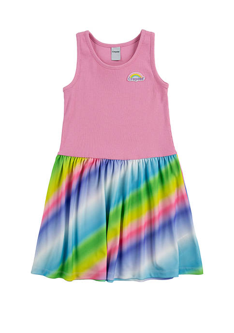 Crayola® Girls 4-6x Printed Tank Top Dress