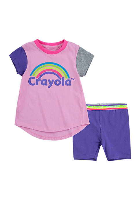 Crayola® Girls 4-6x Bike Shorts Set
