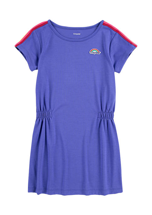 Crayola® Girls 4-6x Rainbow Taping Dress