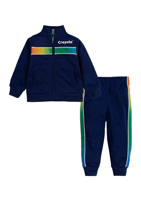 Crayola® Girls 4-7 Rainbow Ombre Tracksuit