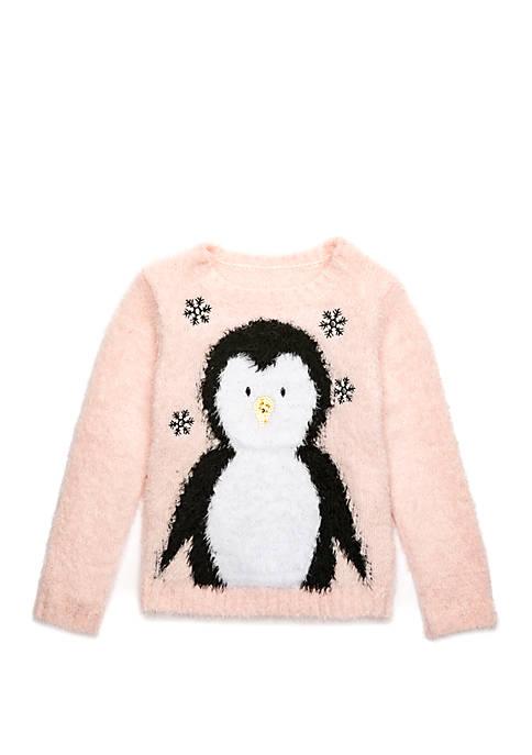 Lightning Bug Girls 4-10x Penguin Sweater