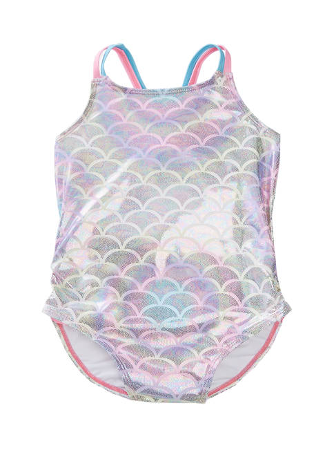 Girls 7-16 Shimmer One Piece Swimsuit