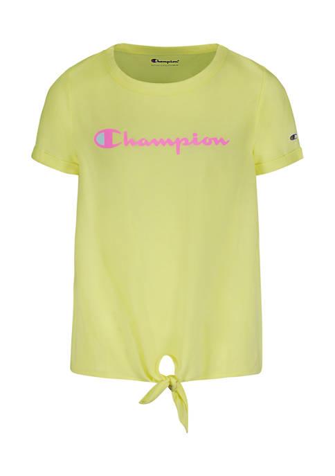 Champion® Girls 7-16 Classic Logo Script Graphic Tie